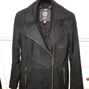 Vince Camuto Rain Coat Jacket with Gold Zippers